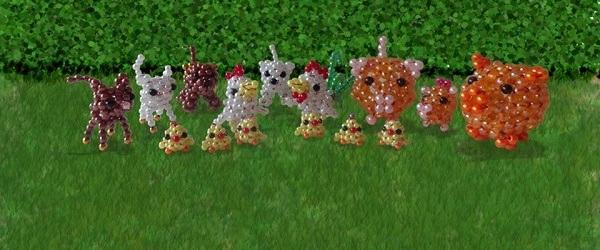 Gyöngycsibék - gyöngyfigurák