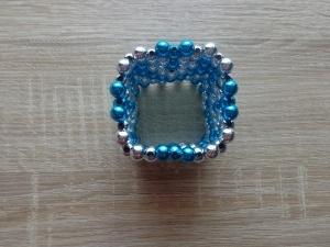 kék-ezüst írószertartó