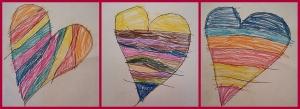 3 szívecske rajz