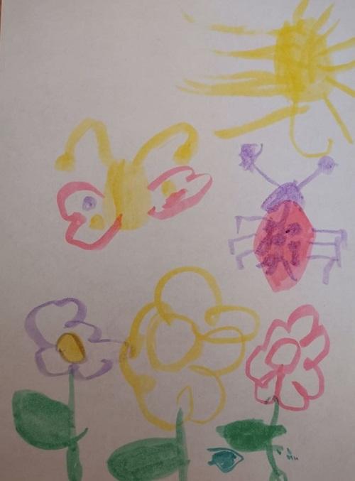 Virágos rajz