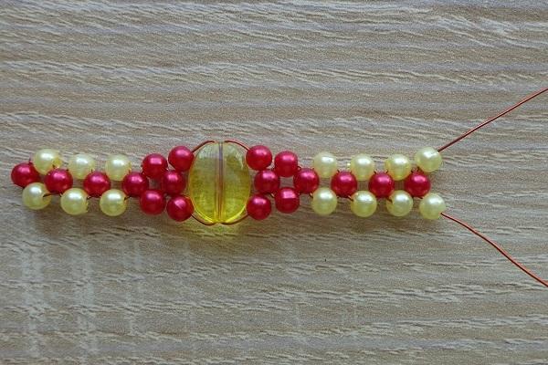 sárga-piros gyűrű