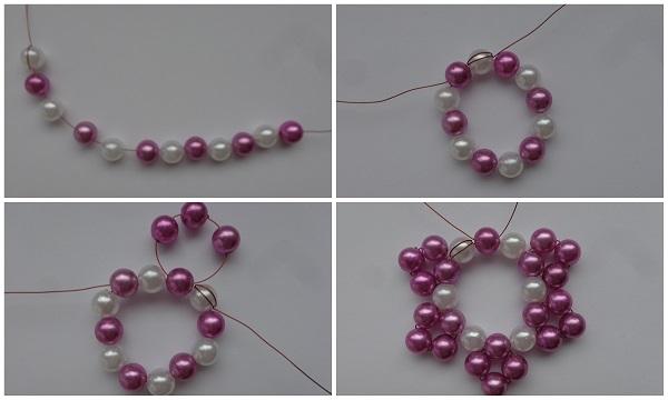 lila-fehér gyöngycsillag