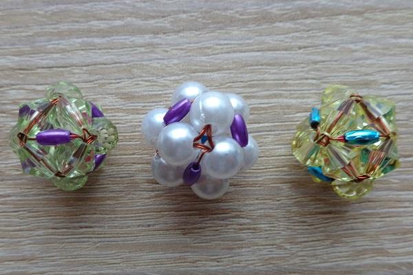 Rizses kocka variációk akril gyönggyel