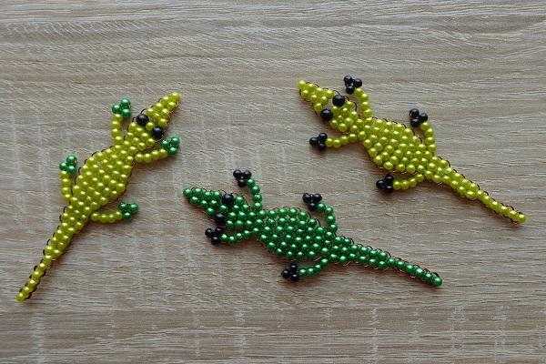 Kis krokodilok 3 mm-es gyöngyökből