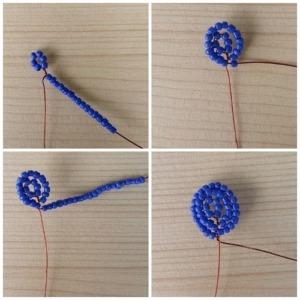 1. szirom-ibolya kék gyöngyökből