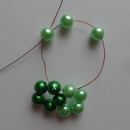 4. zöld gyöngygömb