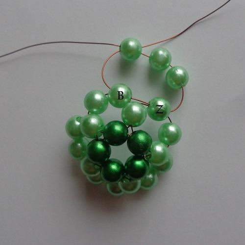 6.zöld gyöngygömb