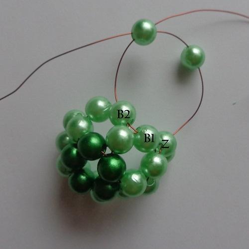 7. zöld gyöngygömb