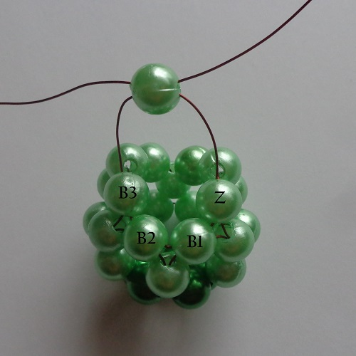 8.zöld gyöngygömb